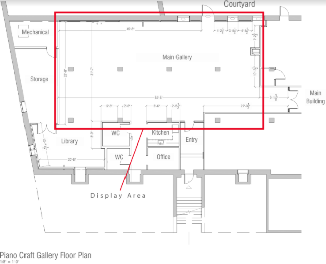 Piano Craft Gallery Floor Plan