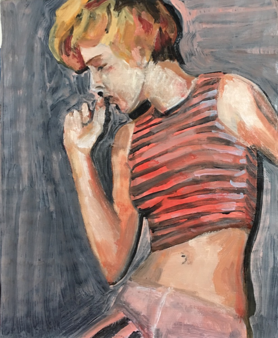 Current Mood Series Contemporary Figure Painting By Lea