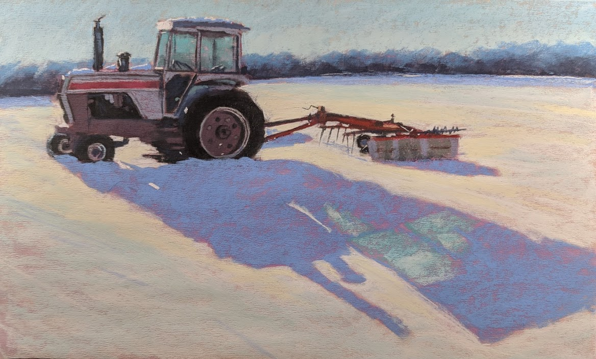 Dave Kaphammer, Tractor, Snow and Shadow