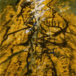 """James Decrescentis, """"Ultimate Grasshopper,"""" Acrylic and Ink on Plywood, 48""""x33"""", $1500"""