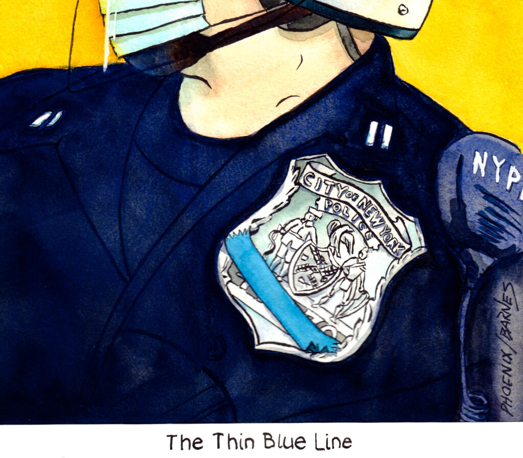 "E J Barnes ""Thin Blue Line"""