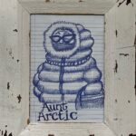 Thom Donovan, Aunt Arctic, Ballpoint Pen on Paper, My Blue Period, $150