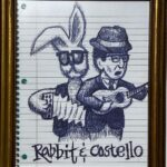 Thom Donovan, Rabbit & Costello, Ballpoint, Pen on Paper, My Blue Period, $150