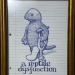 Thom Donovan, A Reptile Dysfunction, Ballpoint Pen, on Paper, My Blue Period, $150