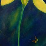 Jorge Drosten, Yellow Flower, Oil on Canvas, 2016, NFS